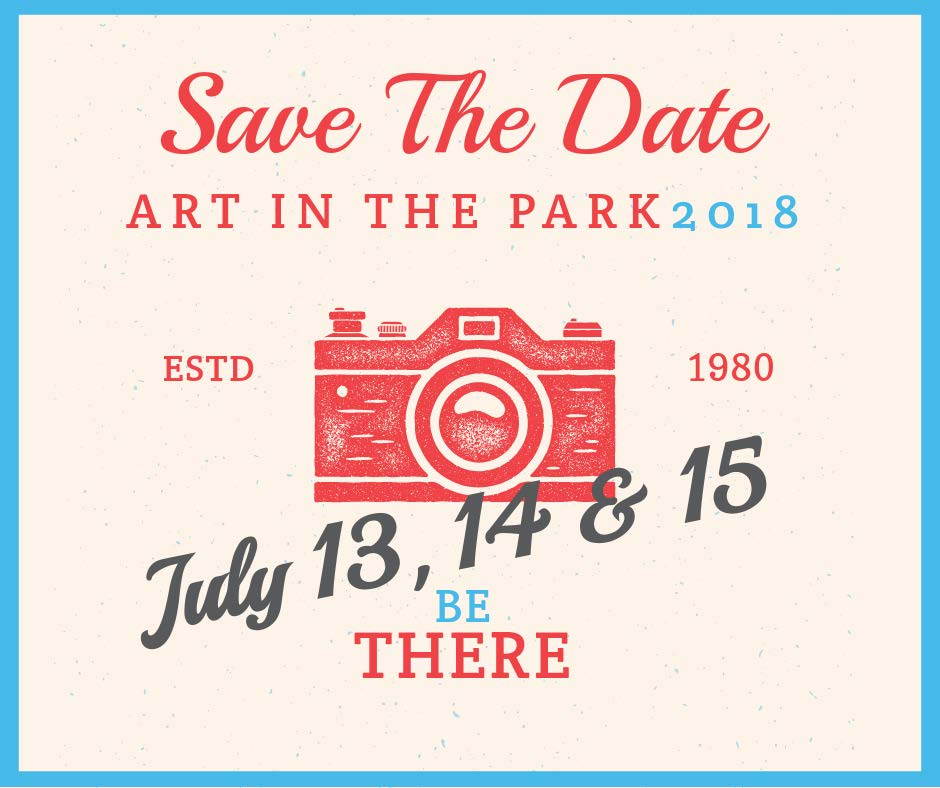 art in the park save the date